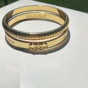 Lilly Pulitzer Gold Toned Bangle Bracelet Bundle